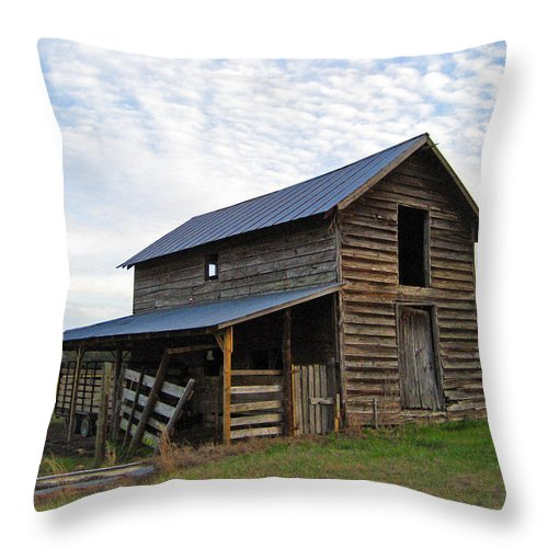 Barn Throw Pillow featuring the photograph Days Gone By by Suzanne Gaff