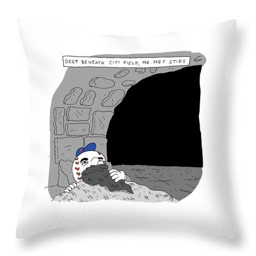 Deep Beneath Citi Field Throw Pillow