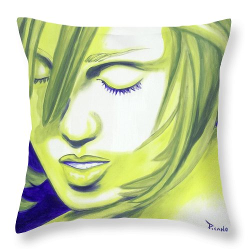 Blue Throw Pillow featuring the painting Deep Blue by Holly Picano