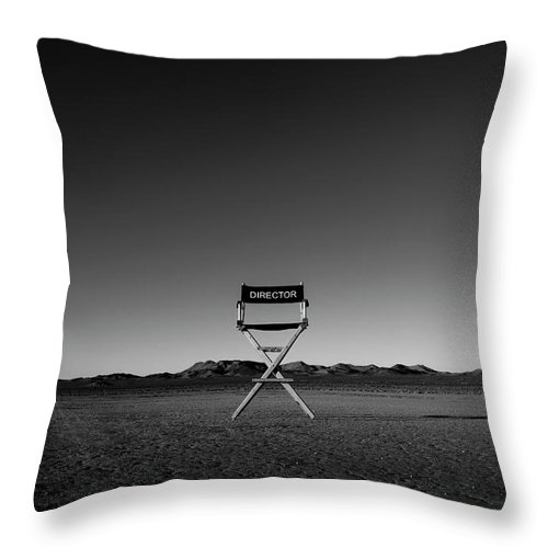 Throw Pillow featuring the photograph Director's Cut by Brendan North