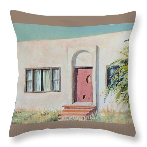 House Throw Pillow featuring the painting Once was a Home by Philip Fleischer