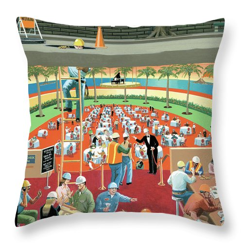 Down the Hatch Throw Pillow