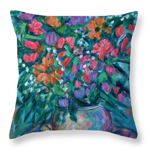 Floral Paintings Throw Pillow featuring the painting Dream Bouquet by Kendall Kessler