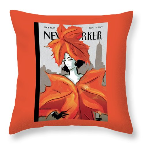 Dressing For Fall Throw Pillow