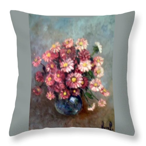 Throw Pillow featuring the painting Early Paint by Carol P Kingsley