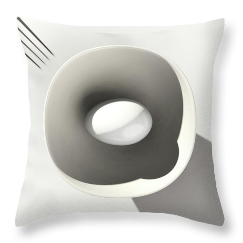 Egg Throw Pillow featuring the digital art Egg and Bowl after Cesare Onestini by Heike Remy