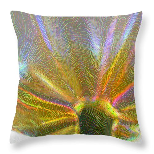 Flowers Throw Pillow featuring the photograph Electric Tulip by Linda Sannuti