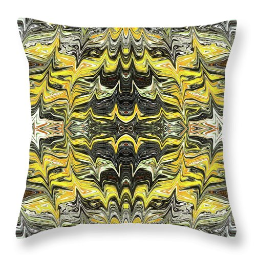 Abstract Throw Pillow featuring the digital art Electromagnetic Waves by Jack Entropy