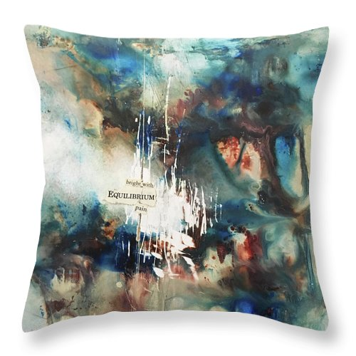 Abstract Art Throw Pillow featuring the painting Euphoric Remarks by Rodney Frederickson