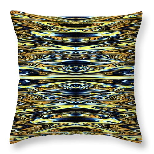 Abstract Throw Pillow featuring the digital art Eye Do Know by Jack Entropy