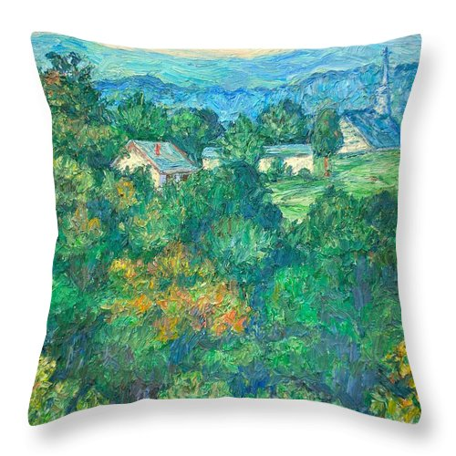 Kendall Kessler Throw Pillow featuring the painting Fairlawn Ridge by Kendall Kessler