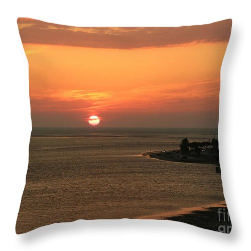 Sunset Throw Pillow featuring the photograph Fire in the Sky by Lora Duguay