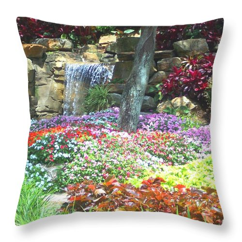 Garden Throw Pillow featuring the photograph Floral Garden by Pharris Art