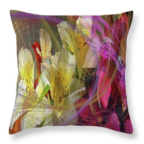 Floral Inspiration Throw Pillow featuring the digital art Floral Inspiration by John Robert Beck