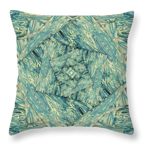Abstract Throw Pillow featuring the digital art Flourtree by Jack Entropy