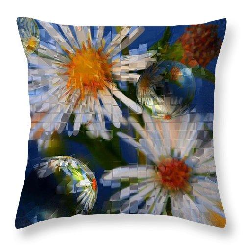 Flowers Throw Pillow featuring the photograph Flower World by Linda Sannuti