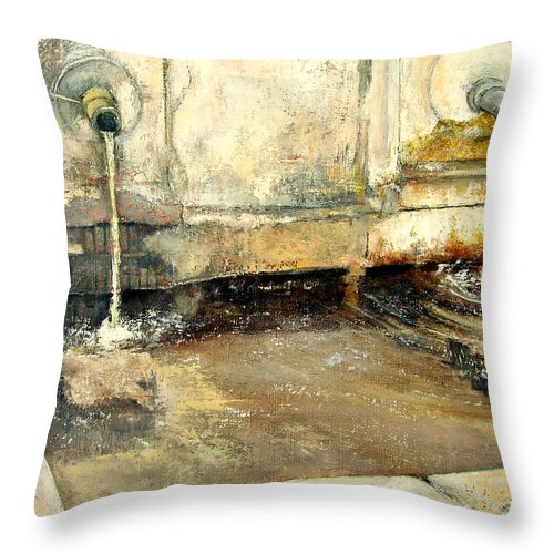 Fuente Throw Pillow featuring the painting Fuente by Tomas Castano