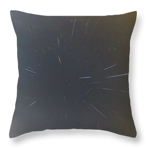 Throw Pillow featuring the photograph Geminids Meteor Shower 2020 by Prabhu Astrophotography