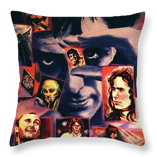 Music Throw Pillow featuring the painting Genesis by Ken Meyer jr