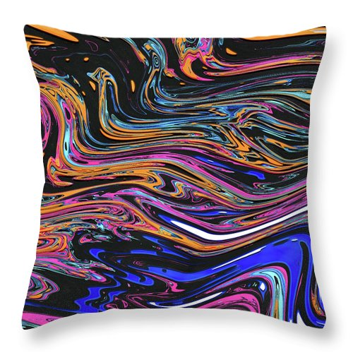Abstract Throw Pillow featuring the digital art Genesis V by Jack Entropy