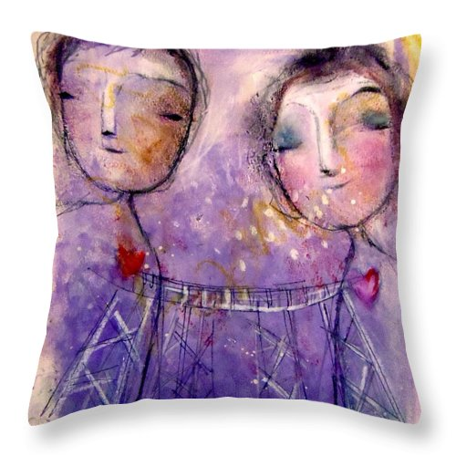 Unique Throw Pillow featuring the mixed media Growing In Gratitude by Eleatta Diver