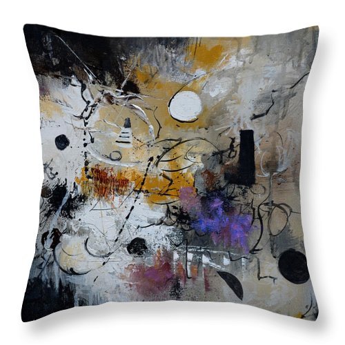 Abstract Throw Pillow featuring the painting Hamilcar s strategy by Pol Ledent