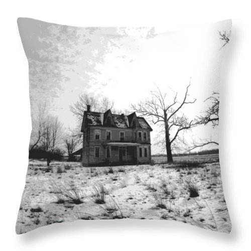 Haunted Throw Pillow featuring the photograph Haunted House by Steven Huszar