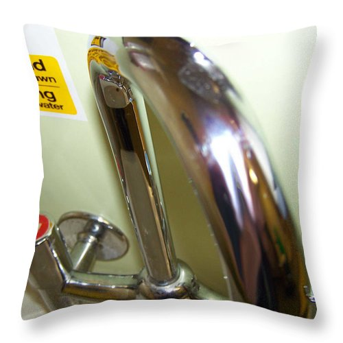 Taps Throw Pillow featuring the photograph Hot and cold by Christopher Rowlands