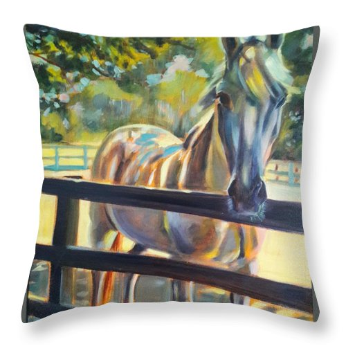 Throw Pillow featuring the painting Hot and Humid by Kaytee Esser