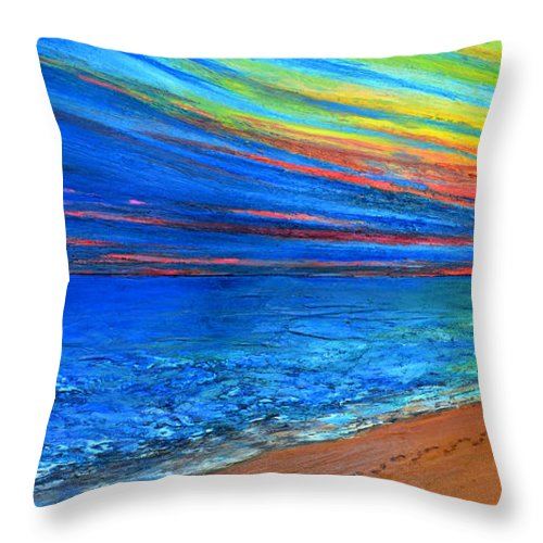 Art Throw Pillow featuring the painting I Am Not Alone by Patricia Awapara