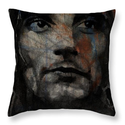 Rod Stewart Throw Pillow featuring the painting I Was Only Joking by Paul Lovering