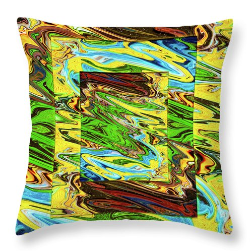 Abstract Throw Pillow featuring the digital art I'll be your Mirror by Jack Entropy