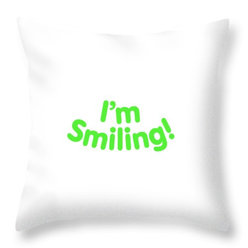 Colorado Throw Pillow featuring the digital art I'm Smiling by Pam Roth O'Mara