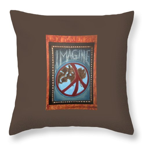 Jandrel Throw Pillow featuring the painting Imagine ... by J Andrel