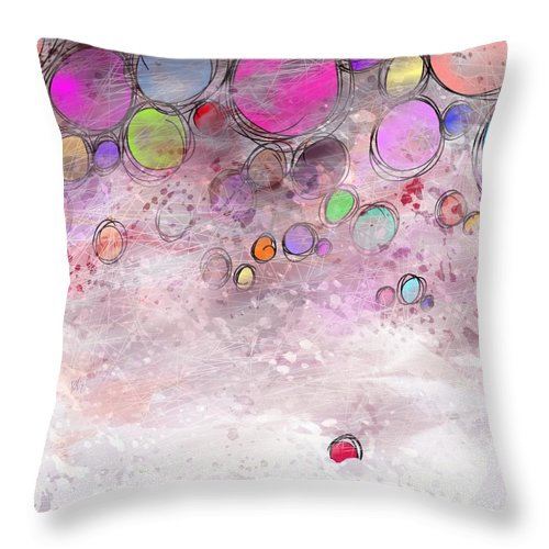 Abstract Throw Pillow featuring the digital art In a world alone by William Russell Nowicki