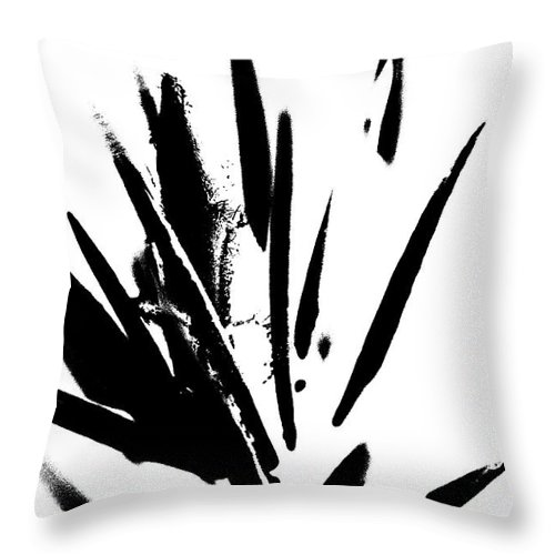 Abstract Throw Pillow featuring the photograph In Black And White by Holly Morris