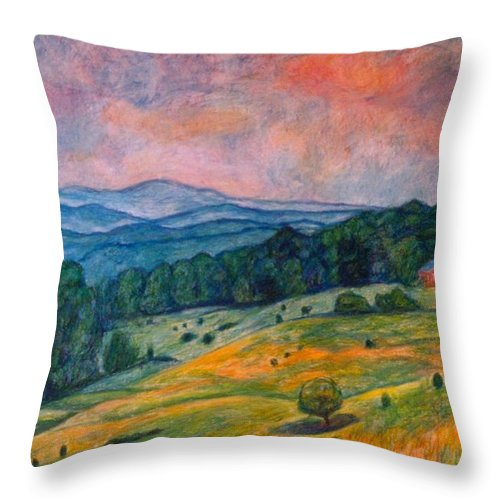 Ingles Mountain Throw Pillow featuring the painting Ingles Mountain by Kendall Kessler