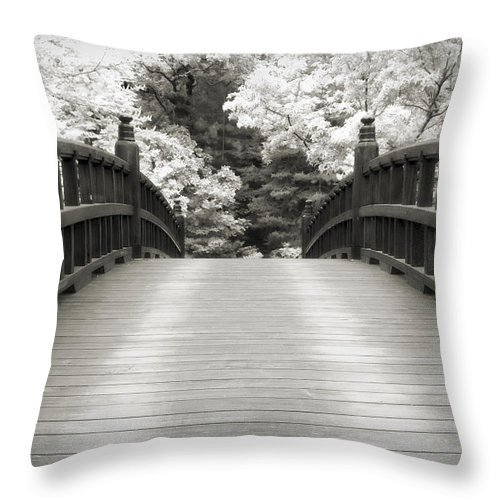 3scape Throw Pillow featuring the photograph Japanese Dream Infrared by Adam Romanowicz