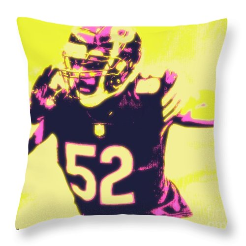 Khalil Throw Pillow featuring the painting Khalil Mack by Jack Bunds