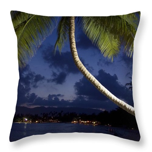 3scape Throw Pillow featuring the photograph Koh Samui Beach by Adam Romanowicz