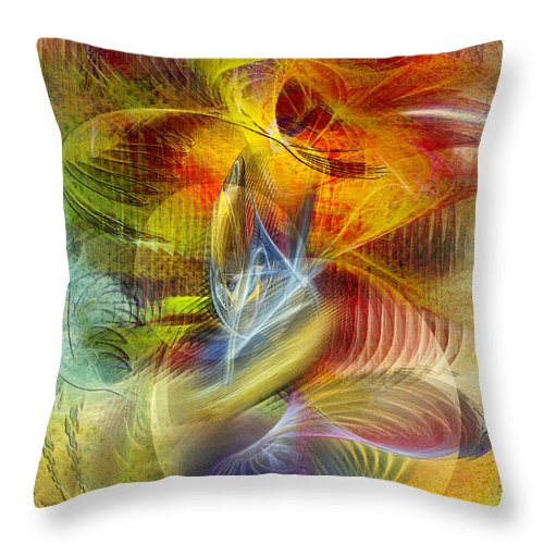 Affordable Art Throw Pillow featuring the digital art Lady And Her Shells by John Robert Beck