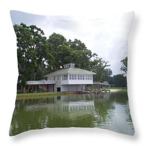 Lakefront Throw Pillow featuring the photograph Lakefront by Pharris Art