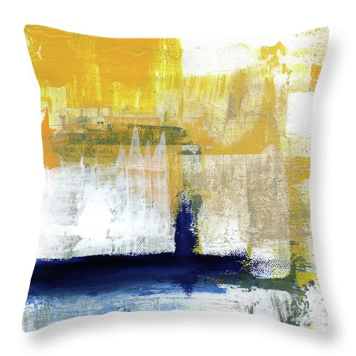 Abstract Throw Pillow featuring the painting Light Of Day 4 by Linda Woods