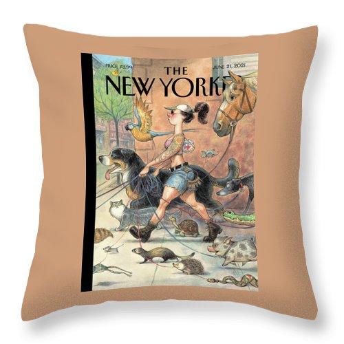 Local Fauna Throw Pillow