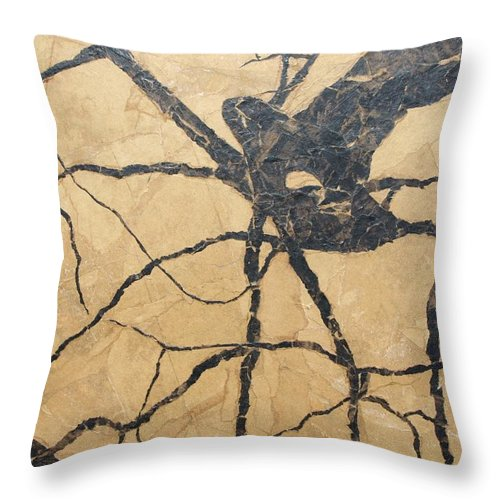 Abstract Throw Pillow featuring the painting Looking Up by Leah Tomaino