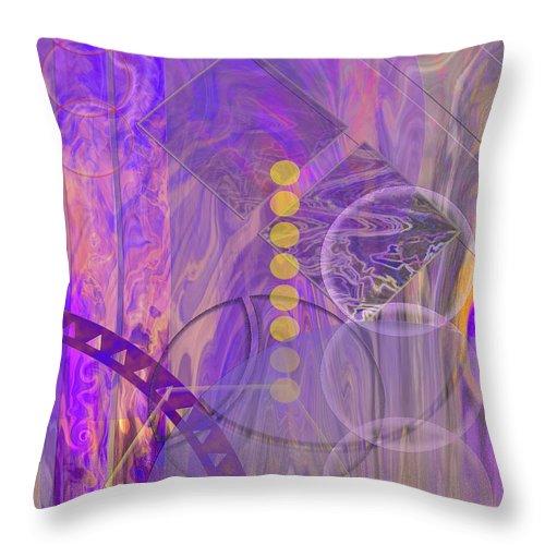 Lunar Impressions 3 Throw Pillow featuring the digital art Lunar Impressions 3 by John Robert Beck