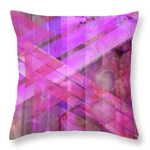 Magenta Haze Throw Pillow featuring the digital art Magenta Haze by John Robert Beck