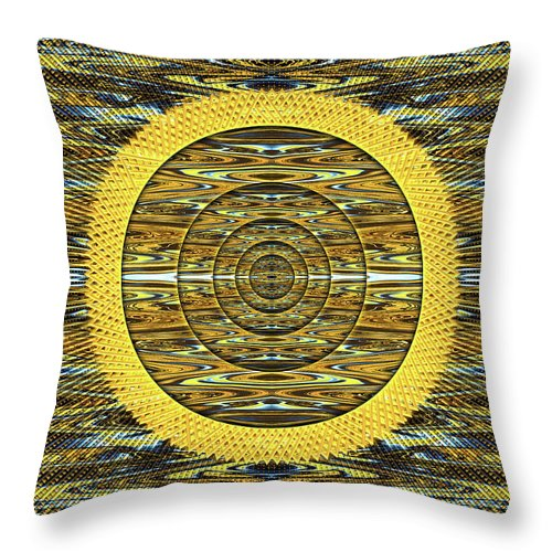 Abstract Throw Pillow featuring the digital art Magician's Portal to the Sun by Jack Entropy