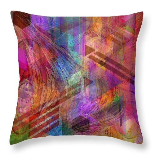 Magnetic Abstraction Throw Pillow featuring the digital art Magnetic Abstraction by John Robert Beck
