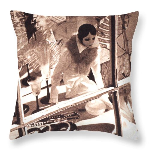 Store Window Throw Pillow featuring the photograph Mannequin by Steven Huszar
